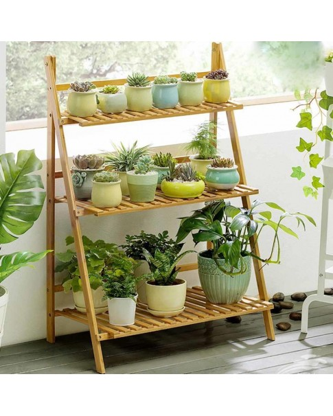 3 Row Wooden Plant Stand (Plant Stand)