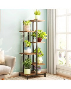 Wooden & Metal Plant Stand (Pre-order Only)