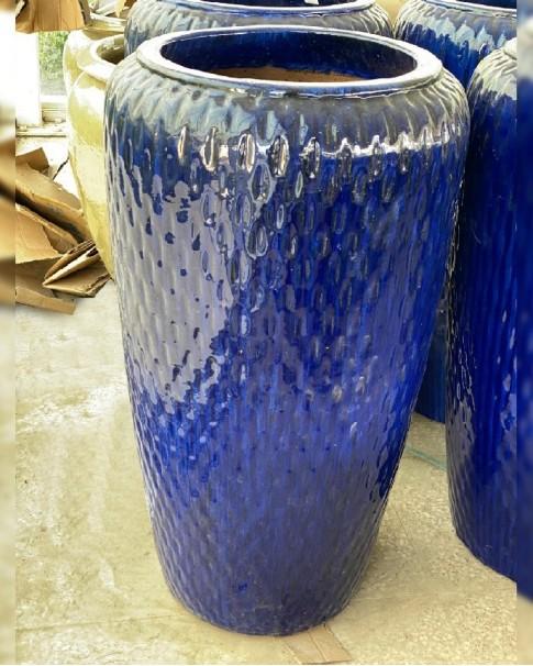 Ceramic Pot Blue - 40x20 CM Height