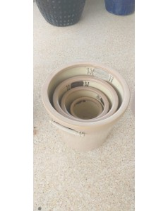 Ceramic Pot Set Of 4 With Handle