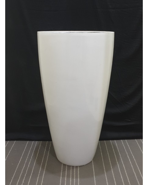Fiber Pot 75 cm Height - White